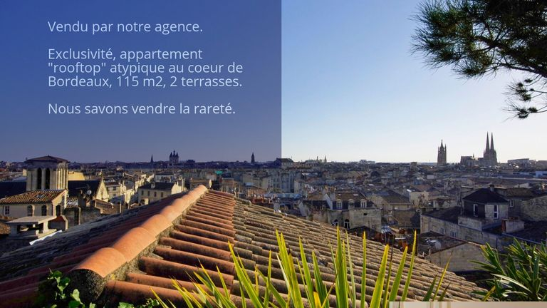 Stately rooftop with two terraces, downtown Bordeaux - Stately rooftop with two terraces, downtown Bordeaux